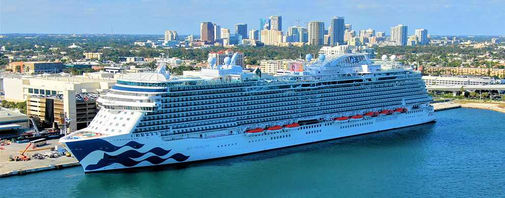 The new Sky Princess will be homeported at Port Everglades for the 2019-2020 winter cruise season