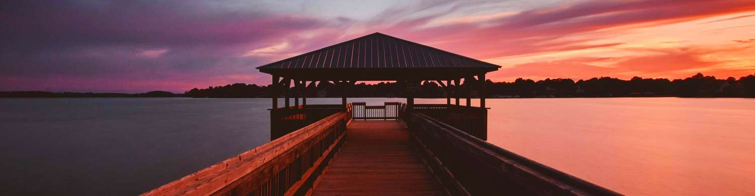 Colorful Sunset at Ramsey Creek Park