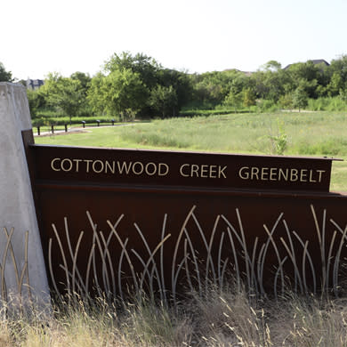 Cottonwood Creek Greenbelt sign