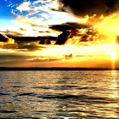 Sunrise over Seneca Lake