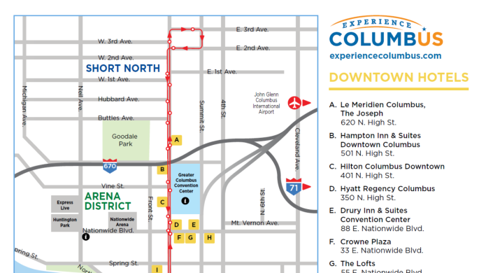 short north columbus ohio map Columbus Maps Navigate Your Way To Dining Entertainment
