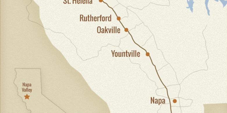 Napa Valley Regional Map   Visit Napa Valley on