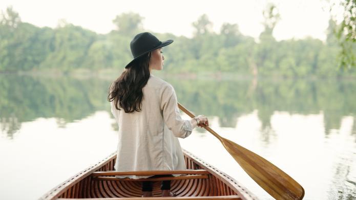 Girl in Canoe