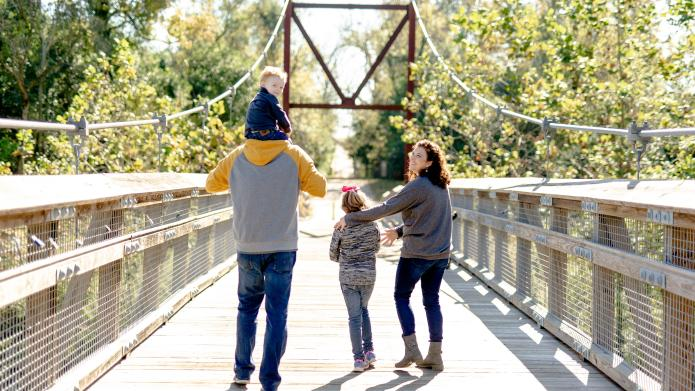 Augusta Canal hiking family