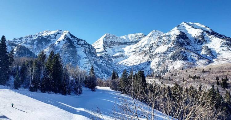 Sundance Mountains in Winter