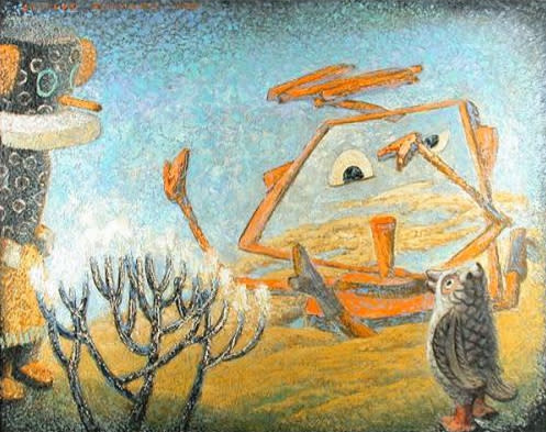 "Gustave Baumann, ""The New Comer"""