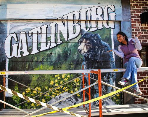Gatlinburg Mural by Pinkie Mistry