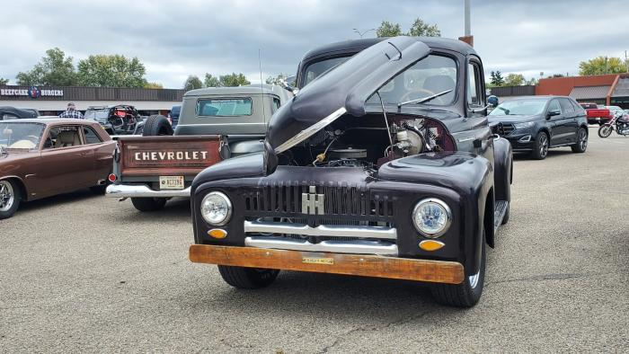 Chevrolet and International trucks at the Carnival of Cars in Martinsville.