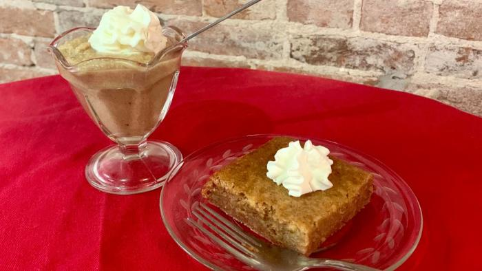 Find both popular styles of persimmon pudding, available seasonally at the Martinsville Candy Kitchen.