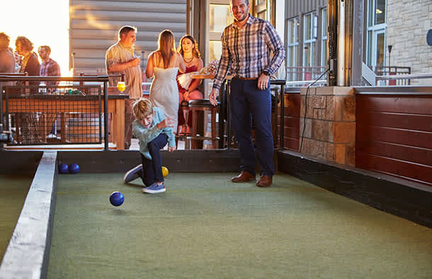 Bocce at Pinstripes in OP