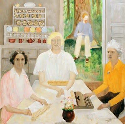 Dorothy Brett, My Three Fates, 1958, oil on canvas.