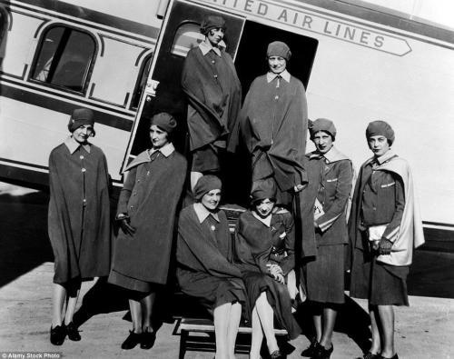 Cheyenne Sky Girls - the world's first airline stewardesses