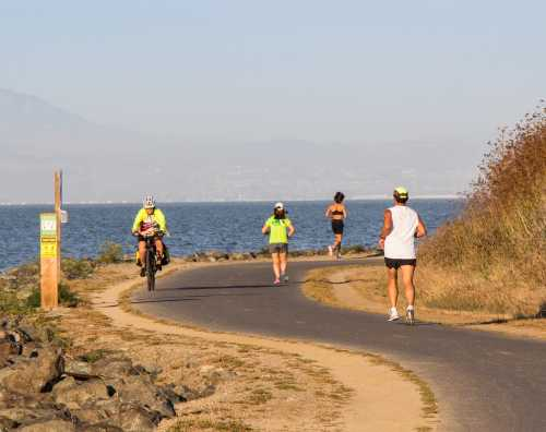 Runners & Bikers on the San Francisco Bay Trail