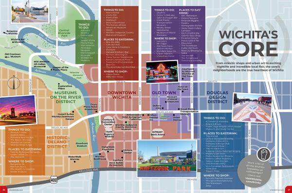 Wichita's Core Page from 2021 Visitors Guide