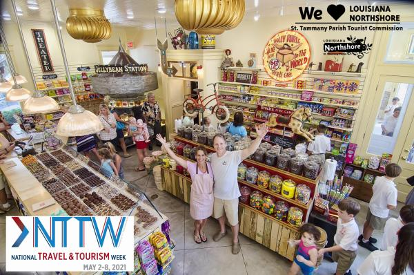 Owners Lisa and Thomas Keiffer at their old-fashioned candy store The Candy Bank
