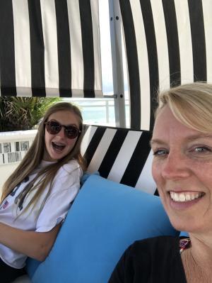 Mother and Daughter enjoying a getaway at Daytona Beach