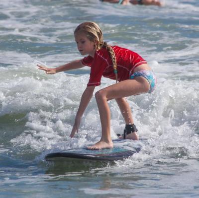 Surfing in Daytona Beach