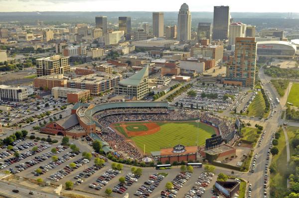 Aerial view of Louisville Slugger Field