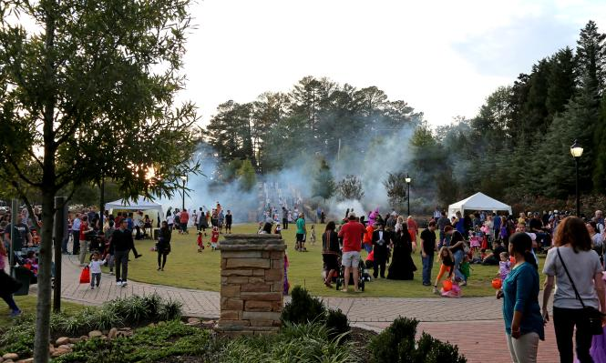 Sandy Springs' Linear Park full of people for the annual halloween event