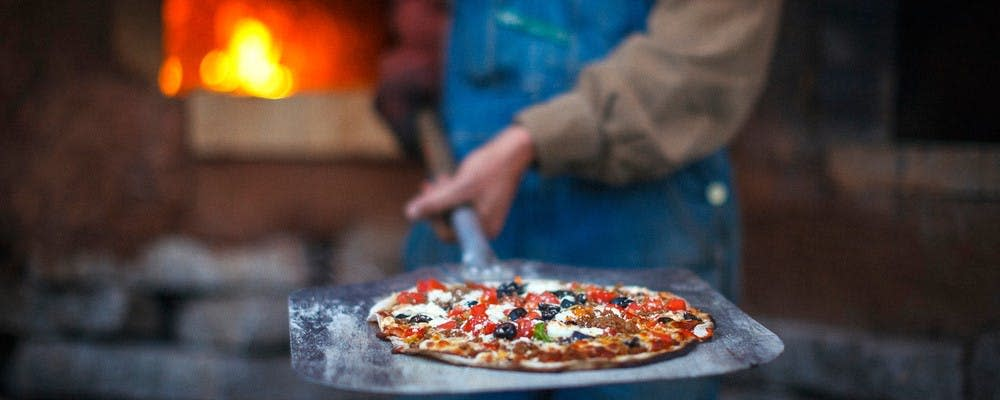 Millsap Farms Pizza on Paddle