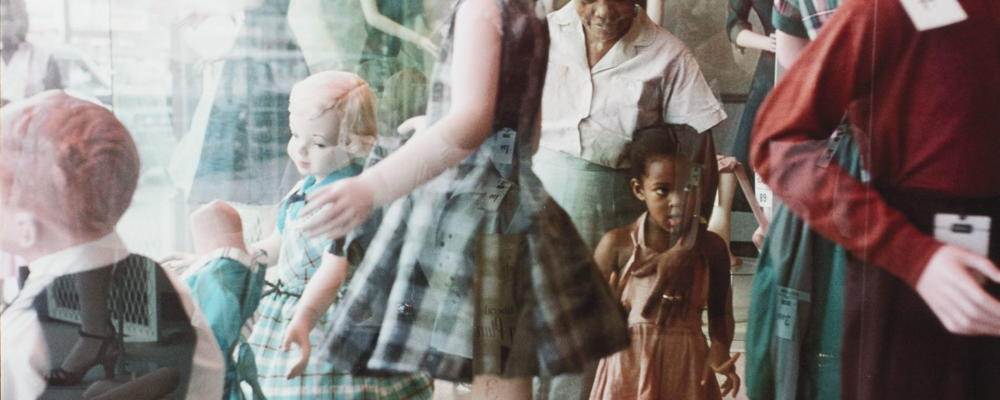 Gordon Parks, Ondria Tanner and her Grandmother Window-shopping, Mobile, Alabama, 1956.
