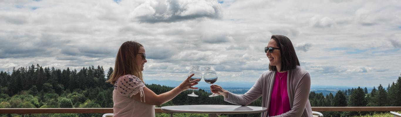 Enjoy the wine and the views of the Willamette Valley