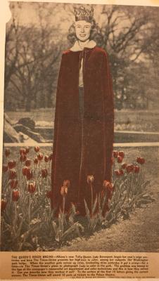 "Albany Institute: ""The Crimson Velvet Robe of State"" Newspaper Clipping"