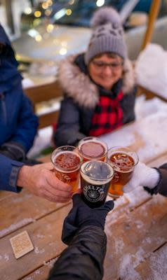 Cheers at Shelter's winter patio