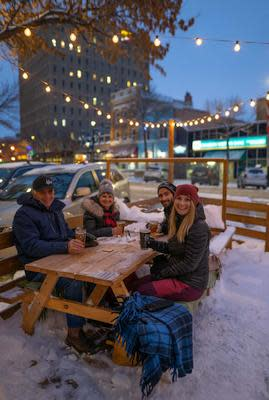 Shelter winter patio