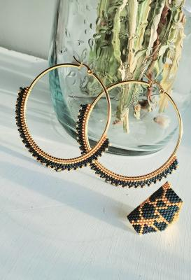 Set of handmade hoops and ring by Anamar