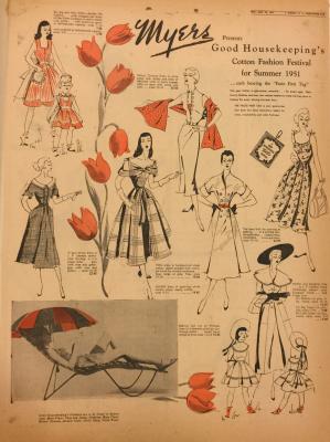Albany Institute: Tulip Festival Fashion Newspaper Clipping