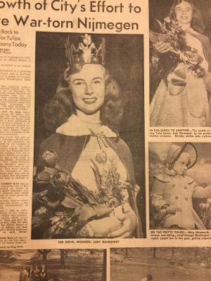 Albany Institute: The Tulip Queen's Crown Newspaper Clipping