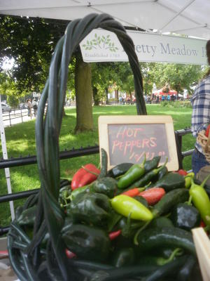 Peppers for sale at Farmers on the Square