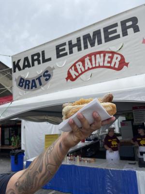Karl Ehmer's bratwurst at Musikfest
