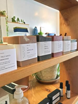 Soaps on a shelf