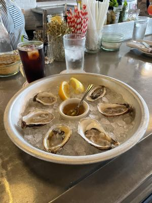 A tray of oysters at Sardine