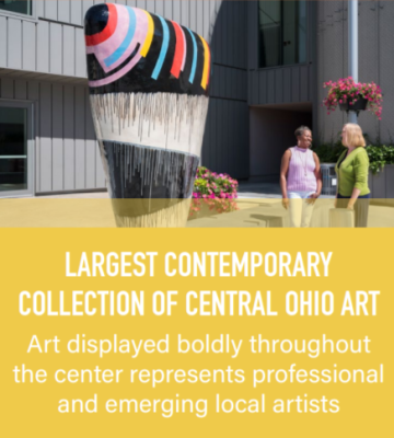 The Greater Columbus Convention Center houses the largest contemporary collection of Central Ohio art.