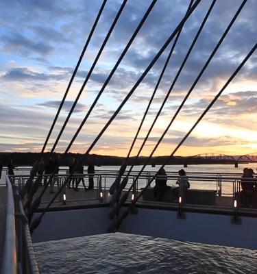 Waterfront sunset pier