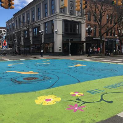 Mural at Main and Liberty Streets