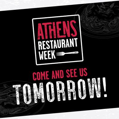 Restaurant Week social post partner countdown tomorrow