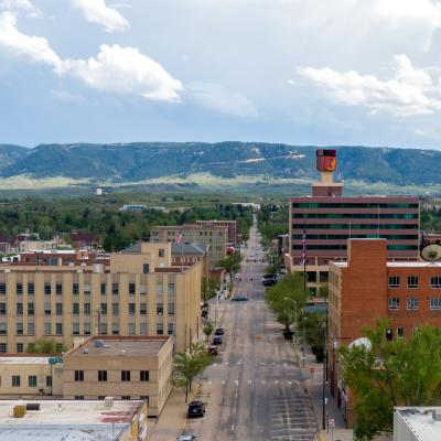Aerial View of Downtown Casper, Wyoming