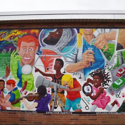 Allentown Mural - 'Draw Your Own Path (2018)'