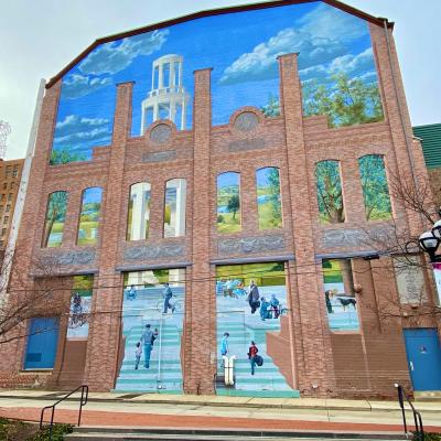 Artist Michael Web's Allentown Mural 'Plaza for the Spirit of the Arts (2006)'