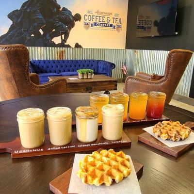 Coffee flight from American Coffee & Tea