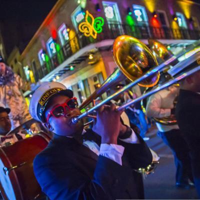 brass band, musician, french quarter