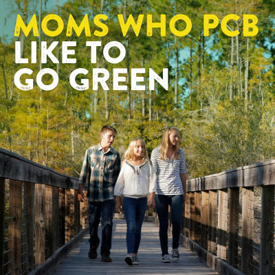 MOMS WHO PCB like to go green