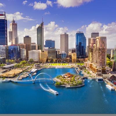 Elizabeth Quay, Perth Aerial Day