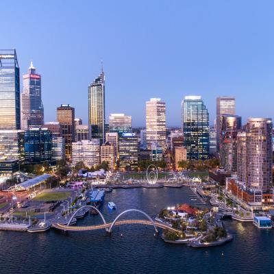 Perth City Aerial - Copyright Tourism Western Australia