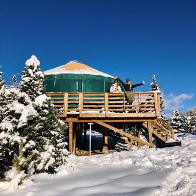 Pearl Lake State Park Winter Yurts