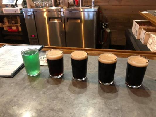 Wildrose flight of beer - Christine Olson